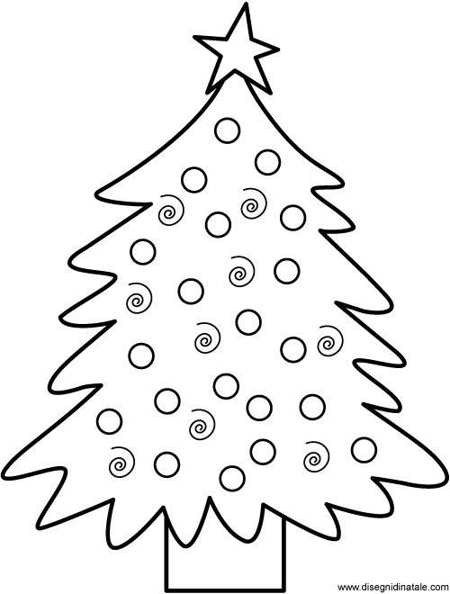 Disegni di Natale: Disegno Albero di Natale